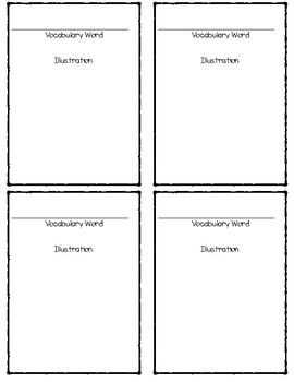 Vocabulary & Flash Card Template