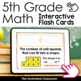 5th Grade Math Vocabulary Interactive Flash Cards