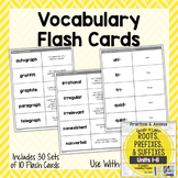 Vocabulary Flash Cards for Greek and Latin Roots Printables