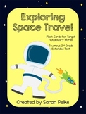 Vocabulary Flash Cards for Journey's Exploring Space Trave