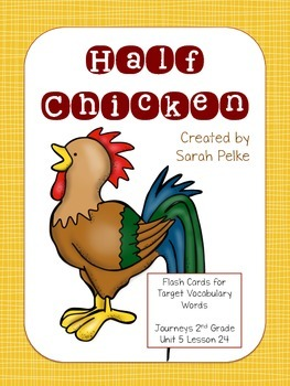 Vocabulary Flash Cards for Journey's Half Chicken