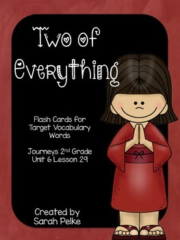 Vocabulary Flash Cards for Journey's Two of Everything