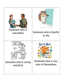 Vocabulary Flashcards- Character Trait Words
