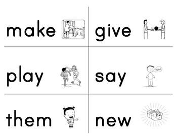 Vocabulary Flashcards (HFWs)