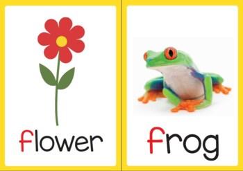 Vocabulary Flashcards: Letter F G H I J