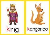 Vocabulary Flashcards: Letter K L M N O (ESL Phonics)
