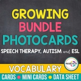 Photo Cards Growing Bundle: Flashcards for Speech Therapy, Autism and ESL