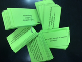 Vocabulary Flashcards for 6th Grade Science ~ North Carolina