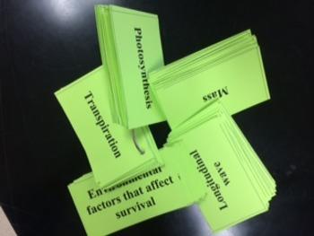 Vocabulary Flashcards for 6th Grade Science ~ North Carolina