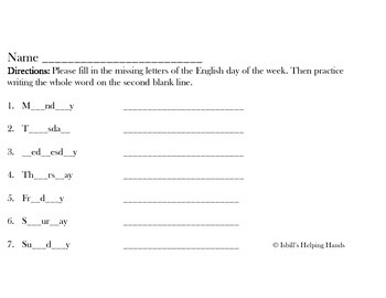 Vocabulary Flashcards for ESL Learners: Days of the Week