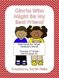 Vocabulary Flashcards for Journey's Gloria Who Might Be My