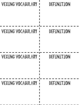 Vocabulary Flashcards for The Next Step In Guided Reading