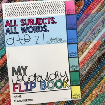 Vocabulary Flip Book | Special Education Resource