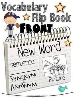 Vocabulary Flip Books