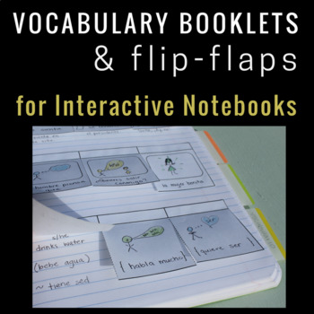 Vocabulary Flip Flaps and Booklets for Interactive Notebooks