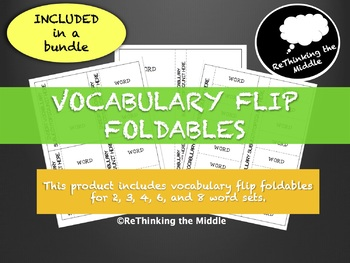 Vocabulary Flip Foldables