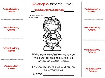 Vocabulary Flipbooks for ANY STORY