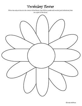 Vocabulary Flower