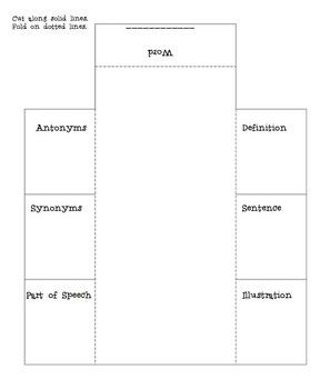 Vocabulary Foldable