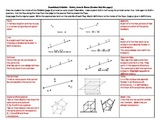 Vocabulary Foldable - Points, Lines and Planes