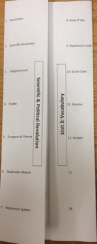 Vocabulary Foldable Ready to Print