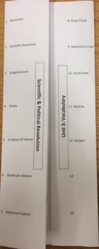 Vocabulary Foldable Ready to Print