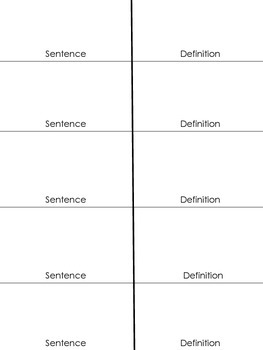 Vocabulary Foldable for ALL Subjects!