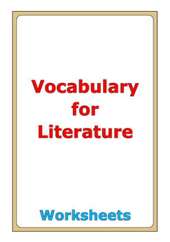 Vocabulary for Literature (Elementary School Level) worksheets