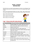 Vocabulary For Writing - All About Feelings