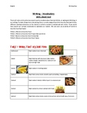Vocabulary For Writing - All About Food