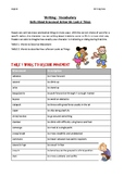 Vocabulary For Writing - All About Movement