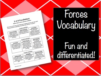 Vocabulary: Forces