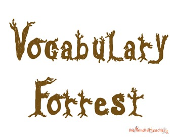 Vocabulary Forrest Interactive Word Wall