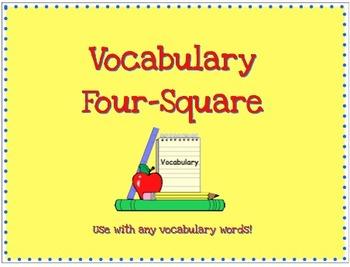 Vocabulary Four Square Graphic Organizer