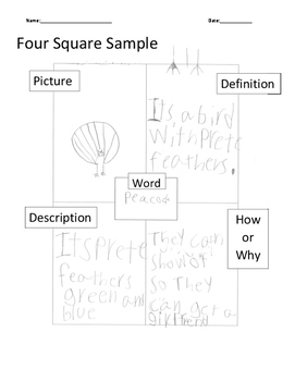 Vocabulary Four Square Blank