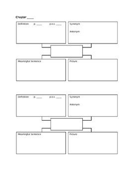 Vocabulary Four-Square Template