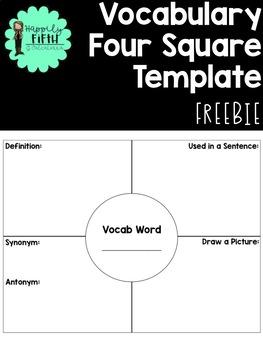Vocabulary Four Square Template