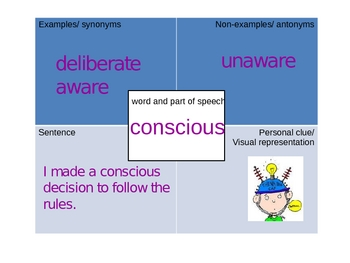 Vocabulary Four-square What Exactly is a Hero