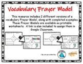 Vocabulary Frayer Model