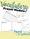 Vocabulary Frayer Models