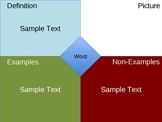 Vocabulary Freyer Model  PowerPoint Template