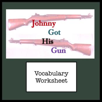 Vocabulary From Johnny Got His Gun - Dalton Trumbo ; Matching worksheet