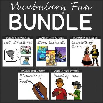 Vocabulary Fun Activity Packs {Bundle}
