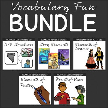 Vocabulary Fun Activity Packs {Bundle}
