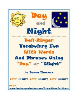 "Vocabulary Activities: Bell-Ringer with ""Day"" and ""Night"""
