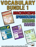 Vocabulary Fun: Bundle 1 (Anachronisms, Idioms, Spoonerisms, Name Tags)