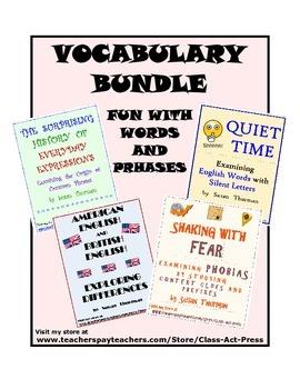 Vocabulary Activities Bundle 3 (Save 25%! 4 Activities, 16 pgs., Ans. Keys, $12)