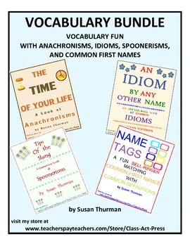 Vocabulary Activities Bundle (Save 25%; 4 Vocabulary Activities; Ans. Keys, $6)