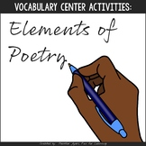 Vocabulary Fun: Elements of Poetry