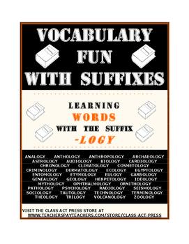 """Vocabulary Activities Fun: Examining the Suffix """"-Logy"""""""